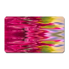 Abstract Pink Colorful Water Background Magnet (rectangular)