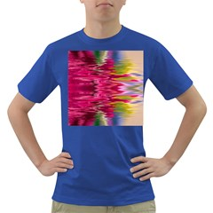Abstract Pink Colorful Water Background Dark T Shirt
