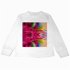 Abstract Pink Colorful Water Background Kids Long Sleeve T-Shirts