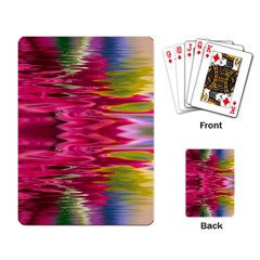 Abstract Pink Colorful Water Background Playing Card