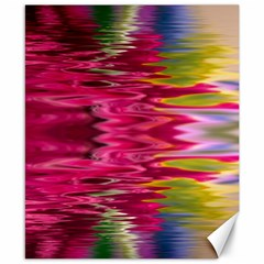 Abstract Pink Colorful Water Background Canvas 8  x 10