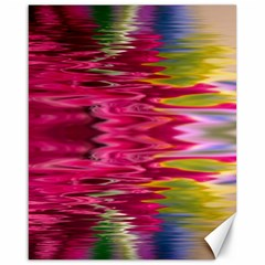 Abstract Pink Colorful Water Background Canvas 16  X 20