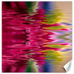 Abstract Pink Colorful Water Background Canvas 20  x 20