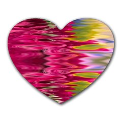 Abstract Pink Colorful Water Background Heart Mousepads