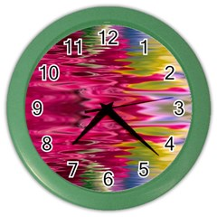 Abstract Pink Colorful Water Background Color Wall Clocks