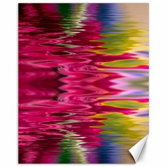 Abstract Pink Colorful Water Background Canvas 11  X 14