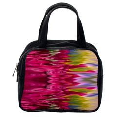 Abstract Pink Colorful Water Background Classic Handbags (one Side)