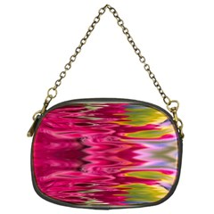 Abstract Pink Colorful Water Background Chain Purses (one Side)