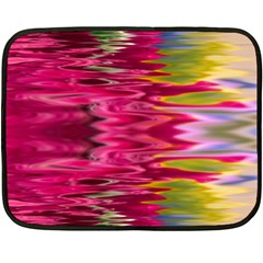 Abstract Pink Colorful Water Background Double Sided Fleece Blanket (mini)