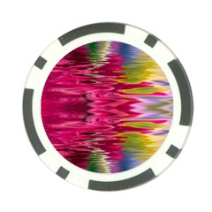 Abstract Pink Colorful Water Background Poker Chip Card Guard (10 Pack)