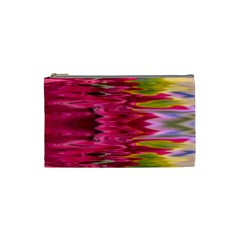 Abstract Pink Colorful Water Background Cosmetic Bag (small)
