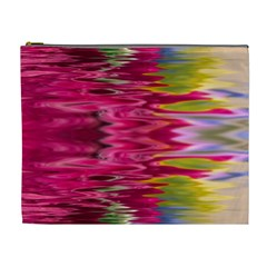 Abstract Pink Colorful Water Background Cosmetic Bag (xl)