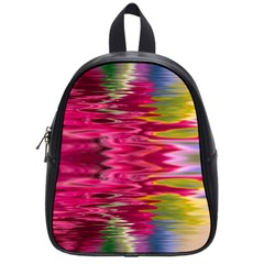 Abstract Pink Colorful Water Background School Bags (small)