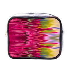 Abstract Pink Colorful Water Background Mini Toiletries Bags