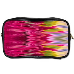 Abstract Pink Colorful Water Background Toiletries Bags 2 Side