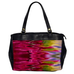 Abstract Pink Colorful Water Background Office Handbags