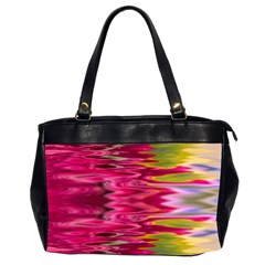 Abstract Pink Colorful Water Background Office Handbags (2 Sides)