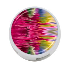 Abstract Pink Colorful Water Background 4 Port Usb Hub (one Side)