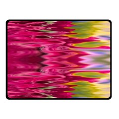 Abstract Pink Colorful Water Background Fleece Blanket (Small)