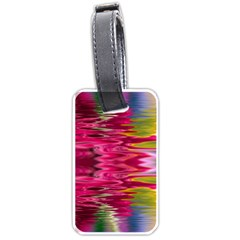 Abstract Pink Colorful Water Background Luggage Tags (two Sides)