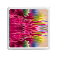 Abstract Pink Colorful Water Background Memory Card Reader (square)