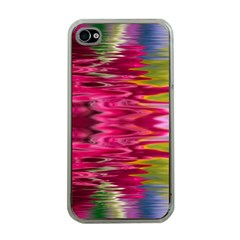 Abstract Pink Colorful Water Background Apple Iphone 4 Case (clear)