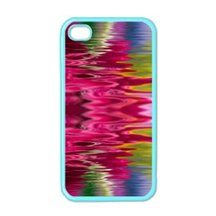 Abstract Pink Colorful Water Background Apple Iphone 4 Case (color)