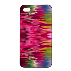 Abstract Pink Colorful Water Background Apple Iphone 4/4s Seamless Case (black)