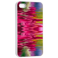 Abstract Pink Colorful Water Background Apple iPhone 4/4s Seamless Case (White)