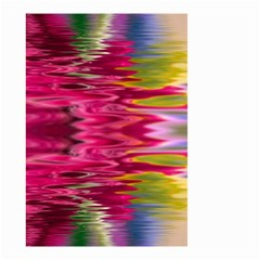 Abstract Pink Colorful Water Background Small Garden Flag (two Sides)