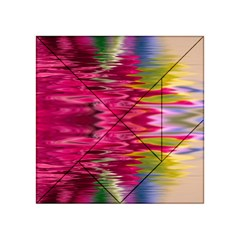 Abstract Pink Colorful Water Background Acrylic Tangram Puzzle (4  X 4 )