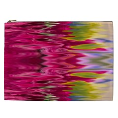 Abstract Pink Colorful Water Background Cosmetic Bag (xxl)