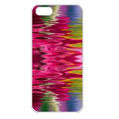 Abstract Pink Colorful Water Background Apple iPhone 5 Seamless Case (White)