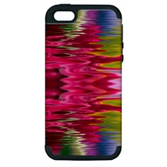 Abstract Pink Colorful Water Background Apple Iphone 5 Hardshell Case (pc+silicone)