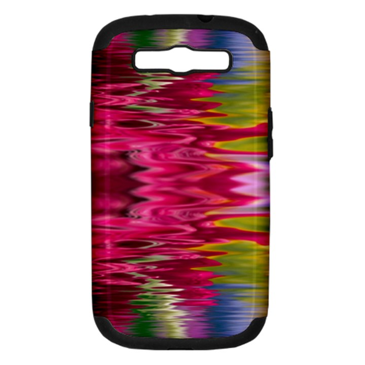 Abstract Pink Colorful Water Background Samsung Galaxy S III Hardshell Case (PC+Silicone)