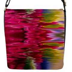 Abstract Pink Colorful Water Background Flap Messenger Bag (s)