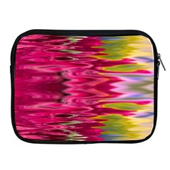 Abstract Pink Colorful Water Background Apple iPad 2/3/4 Zipper Cases