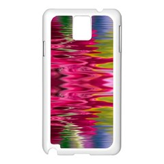 Abstract Pink Colorful Water Background Samsung Galaxy Note 3 N9005 Case (white)