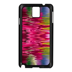 Abstract Pink Colorful Water Background Samsung Galaxy Note 3 N9005 Case (black)