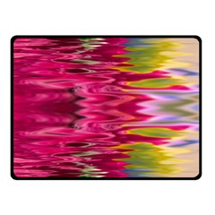 Abstract Pink Colorful Water Background Double Sided Fleece Blanket (Small)