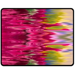 Abstract Pink Colorful Water Background Double Sided Fleece Blanket (medium)