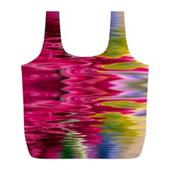 Abstract Pink Colorful Water Background Full Print Recycle Bags (l)