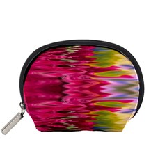 Abstract Pink Colorful Water Background Accessory Pouches (small)