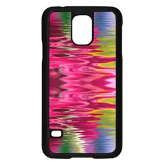 Abstract Pink Colorful Water Background Samsung Galaxy S5 Case (black)
