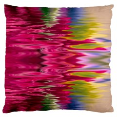 Abstract Pink Colorful Water Background Large Flano Cushion Case (two Sides)