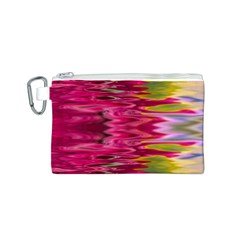 Abstract Pink Colorful Water Background Canvas Cosmetic Bag (s)