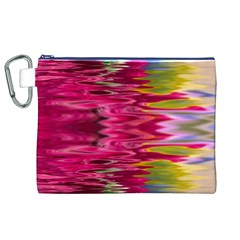 Abstract Pink Colorful Water Background Canvas Cosmetic Bag (xl)