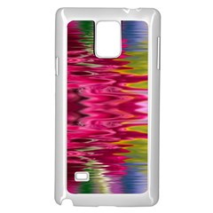Abstract Pink Colorful Water Background Samsung Galaxy Note 4 Case (White)
