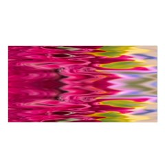 Abstract Pink Colorful Water Background Satin Shawl