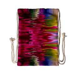 Abstract Pink Colorful Water Background Drawstring Bag (small)